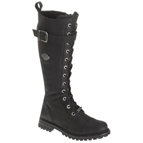 womens biker boots harley davidson savannah womens tall black leather biker