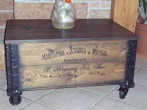 Couchtisch Shabby Vintage : shabby alte frachtkiste couchtisch holzkiste truhe tisch vintage whisky wohnen truhen ~ Markanthonyermac.com Haus und Dekorationen