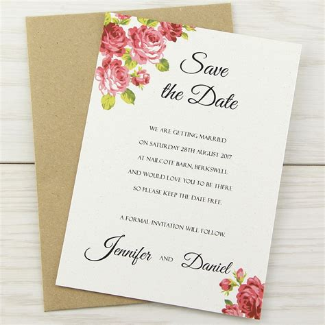 Charlotte Save the Date Pure Invitation Wedding Invites