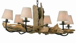 Lustre En Bois : lustre rustique bois d coration de no l d co colo ~ Teatrodelosmanantiales.com Idées de Décoration