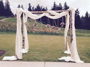Beautiful wedding arbors vases wild seattle washington for Decorating a trellis for a wedding