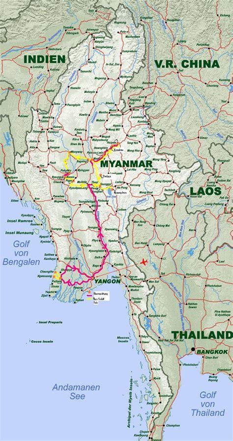 karte myanmar | SINVIA.CH
