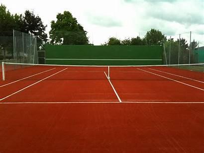 Tennis Court Terrain Cours Pouvoir Intention Construction