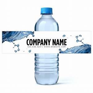 custom water bottle labels water business water labels With corporate water bottle labels