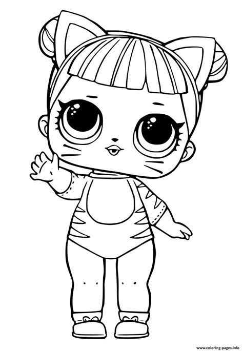print lol doll tiger cat cute coloring pages baby coloring pages cat coloring page cute