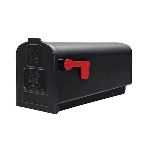 gibraltar mailboxes deluxe polybox post mount mailbox