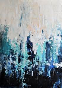 Black and Blue Abstract Art Paintings