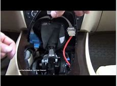 BMW 3 Series Transmission Emergency Release Procedure E90