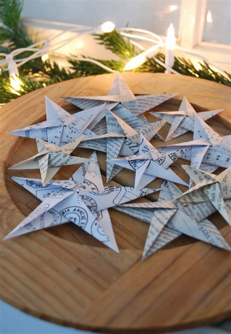 sterne basteln aus buchseiten mamas kram origami sterne