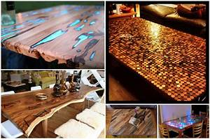 Epoxidharz Tisch Anleitung : 5 au ergew hnliche tischplatten f r industrielle tischgestelle was werden sie bauen ~ One.caynefoto.club Haus und Dekorationen