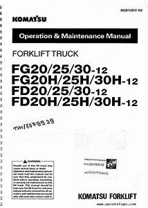 Komatsu Forklifts Shop  U0429peration Maintenance Manuals Pdf