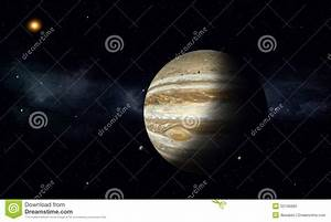 Jupiter With Moons Stock Illustration - Image: 52106083