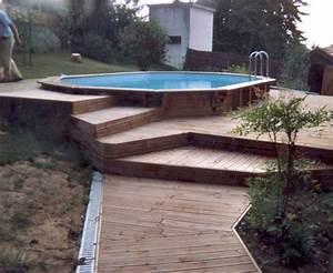 sur un terrain accidente mise en oeuvre d39une piscine With amenagement autour d une piscine hors sol 16 boisylva aquitaine multiservices construction bois