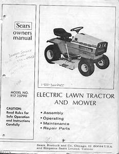 1974 Sears Electric Lawn Tractor - Electric Tractor Forum