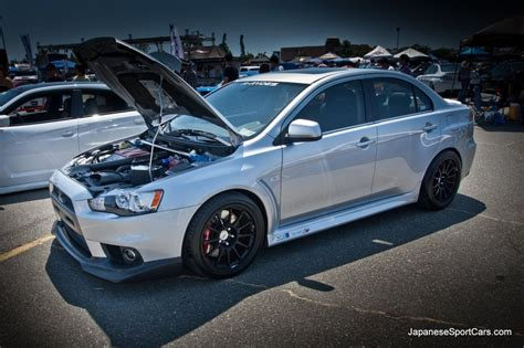 white mitsubishi lancer with black rims 2010 mitsubishi lancer evo x ssr wheels photo s album