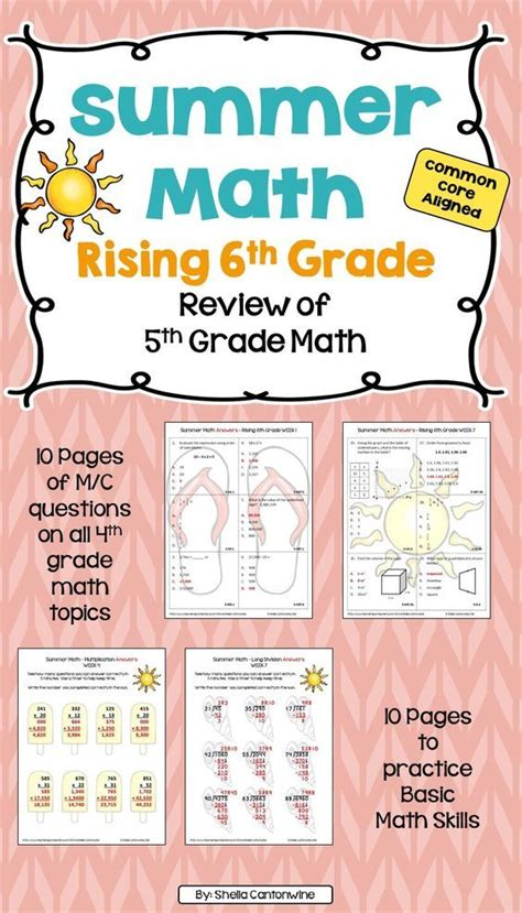 Skip The Summer Slide This Year With This Summer Math Packet This Review Of 5th Grade Math Is