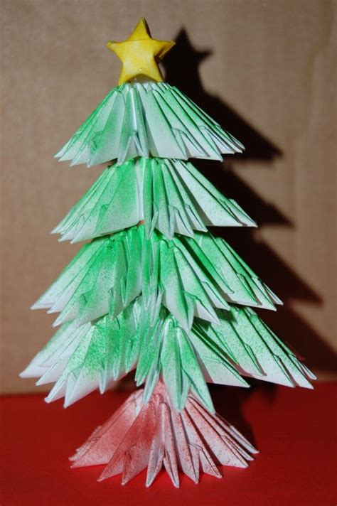 3d origami christmas tree by origami sharon on deviantart