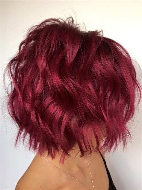 Color Hairstyles For Hair by ℒꭷꮴꮛ Wavy Magenta Bob ღ ღ Rockin