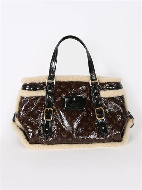 louis vuitton thunder monogram shearling bag luxury bags