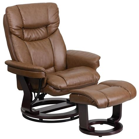 Light Leather Recliner by Flash Furniture Contemporary Palomino Leather Recliner And
