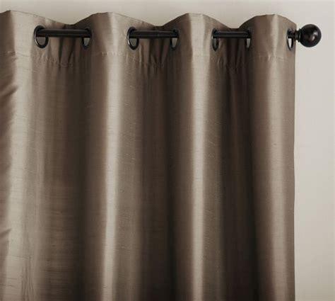 pottery barn curtains grommet dupioni silk grommet drape pottery barn brownstone