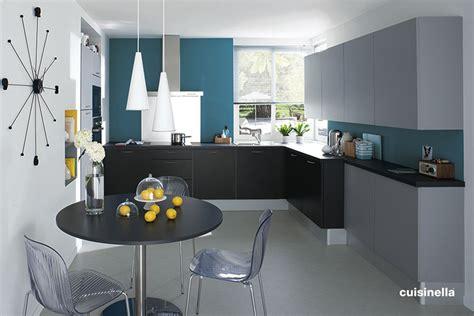 cuisine gris bleu aménagement déco cuisine gris et bleu
