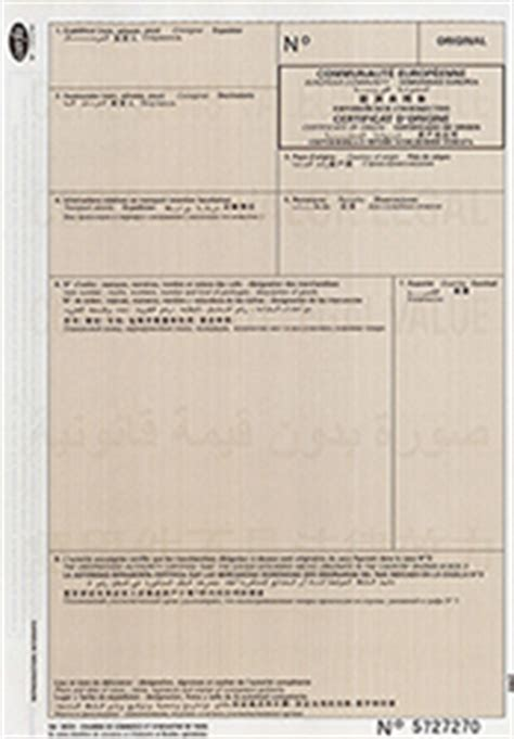 le certificat d origine chambre de commerce et d