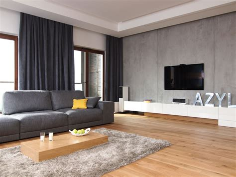 Trendy Curtains For Modern Living Room With Grey Wall