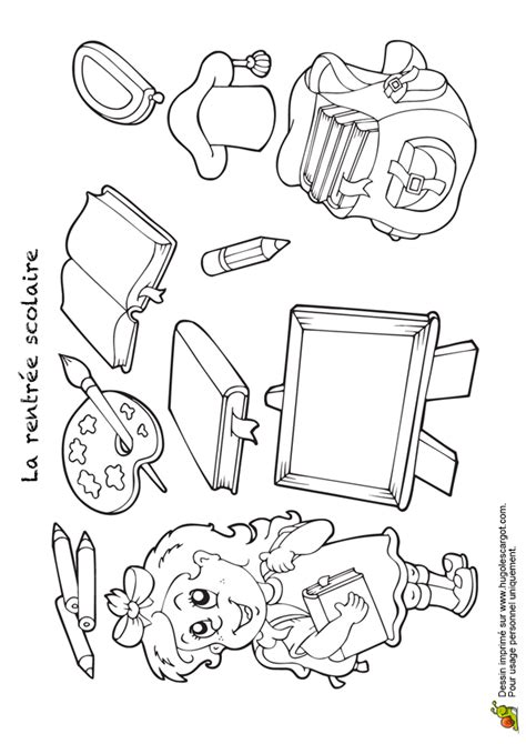 jeu de cuisine ecole de gratuit coloriage fournitures scolaires hugolescargot com