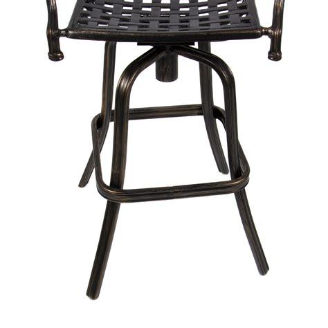 outdoor cast aluminum swivel bar stool patio furniture