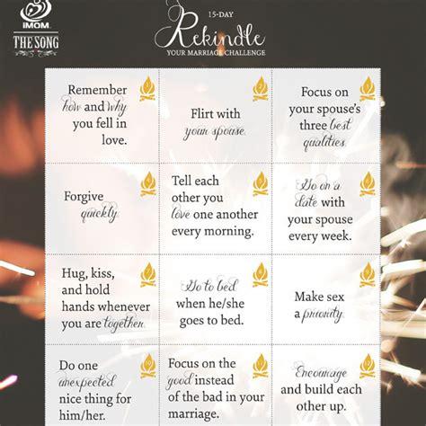 rekindle  marriage challenge imom