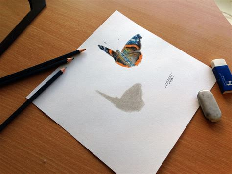 drawing pencil butterfly color pencil drawing by atomiccircus on deviantart 3d