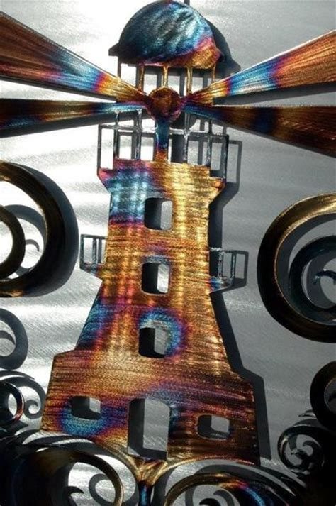 Do your walls look barren and empty? Lighthouse Metal Wall Art (Two Piece 3D) - Humdinger Designs