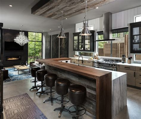 kitchen island wall chicago industrial kitchen island with stainless steel ovens modern staircase