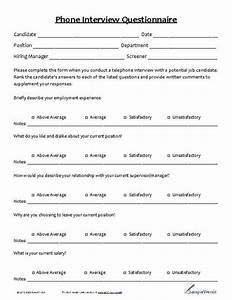 housekeeping contract template phone interview questionnaire phones search and interview