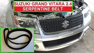 How To Replace Or Install Serpentine Belt On Suzuki Grand