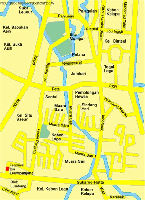 peta bandung bandung map
