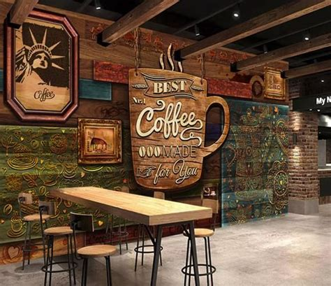 coffee poster high grade retro coffee shop background