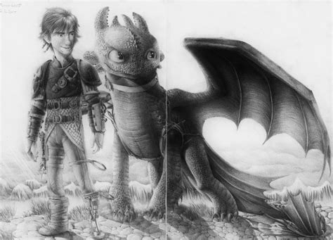 Hiccup And Toothless (httyd 2) Drawing By Monoflax On