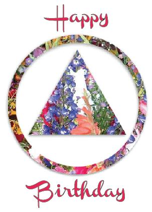happy birthday floral aa logo recovery