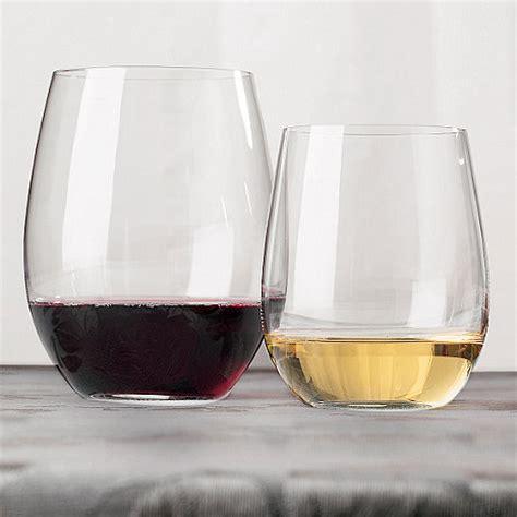 riedel barware riedel o stemless wine glass cabernet chardonnay