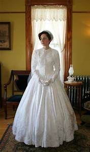 Civil war era wedding gown exquisite historydress for Civil war style wedding dresses