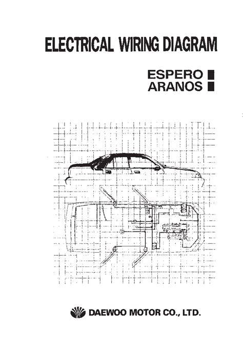 daewoo espero aranos electrical wiring diagram service