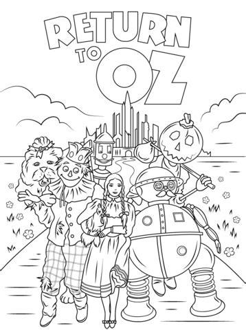 desenho de retorno  oz  colorir desenhos