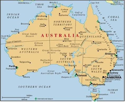 Iceland wants to open its doors for vaccinated tourists starting from may 1, iceland will use the ecdc risk code. Map of Australia With Cities   Australia map, Australia ...
