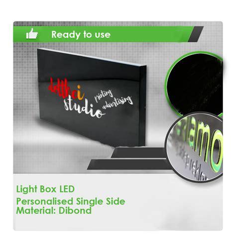 dibond single sided custom designs outdoor illuminated led