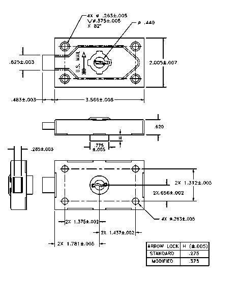 usps master key template spusps std 4c001