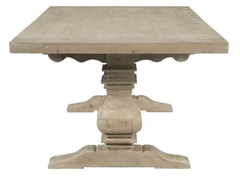trestle dining table grey monastery smoke gray rectangular extendable trestle dining 6376