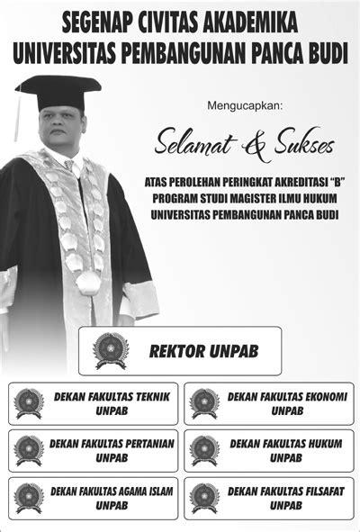 Selamat Atas Peringkat Akreditasi B Magister Ilmu Hukum