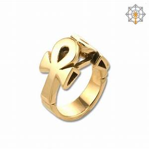 Lean on life ankh ring without stones by studio of ptah for Ankh wedding rings